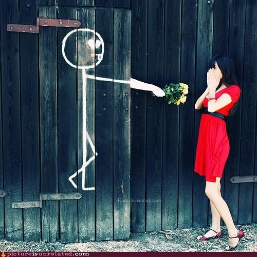 aww,flowers,romantic,stickman,wtf