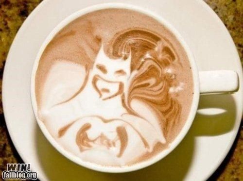batman coffee latte art skills super heroes - 4815290880