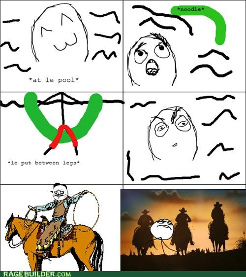 horse,noodle,pool,Rage Comics