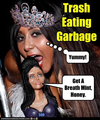 Trash Eating Garbage Yummy! Get A Breath Mint, Honey. 500