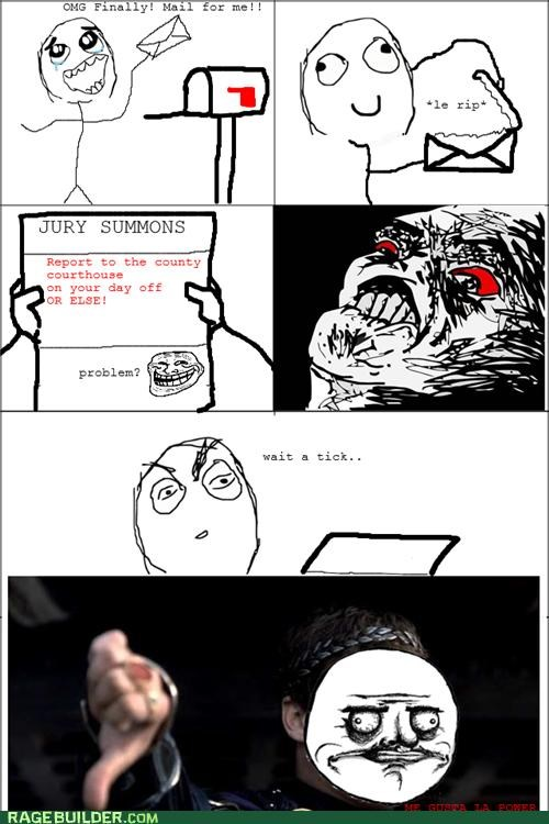 jury duty,lol nope,mail,Rage Comics