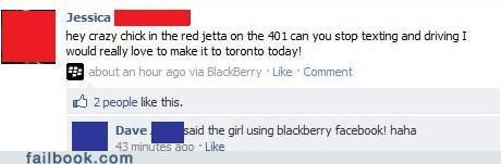 toronto,texting and driving,blackberry