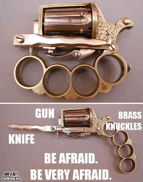 brass knuckles,guns,knife,weapons