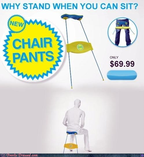 chair pants inventions product