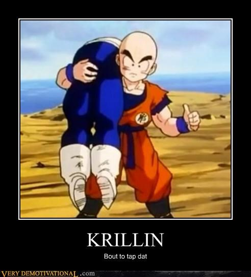 anime booty cartoons Dragon Ball Z hilarious krillin - 4816448256