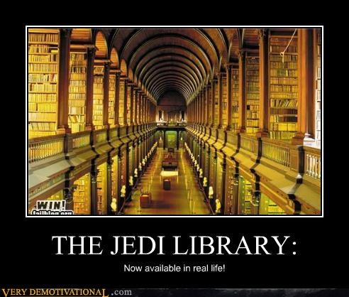 THE JEDI LIBRARY: Now available in real life!