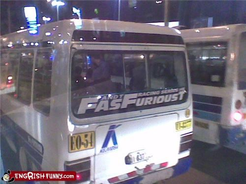 bus,Fast and the Furious,racing