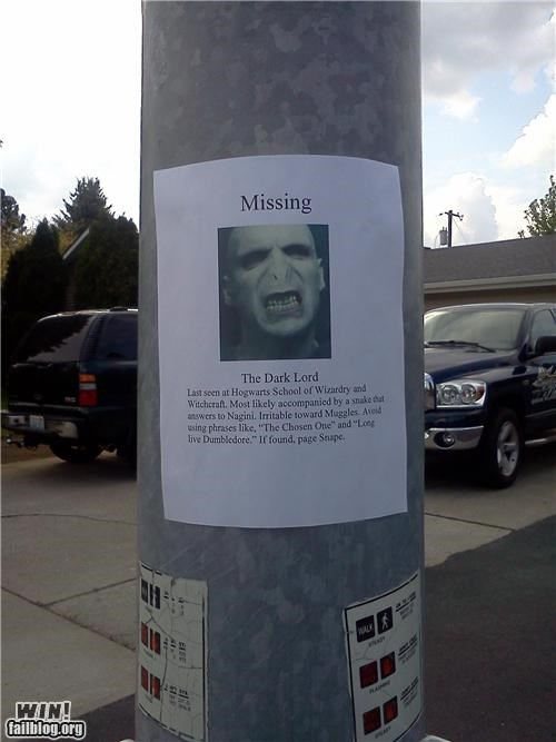 clever,Harry Potter,missing,signs