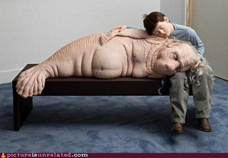 art,eww,manatee,sculpture,wtf