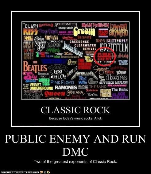 PUBLIC ENEMY AND RUN DMC Two of the greatest exponents of Classic Rock.