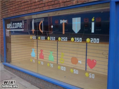 awesome nerdgasm shops video games window display zelda - 4818313728