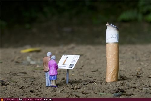 cigarette,little people,museum,wtf