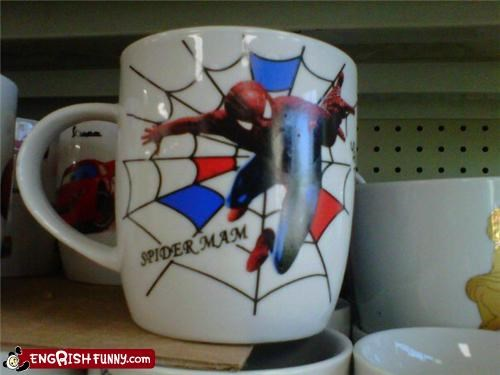 cup maam mug Spider-Man wtf - 4818482176