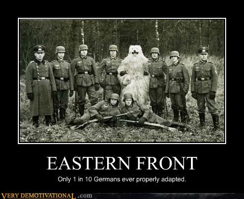 eastern front,Germany,hilarious,wtf,ww2,yeti