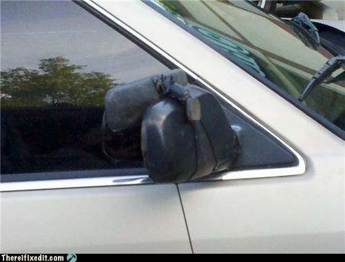 broken cars dual use mirror side mirror
