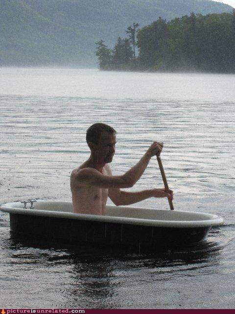 dry cleaning,lake,oar,tub,wtf