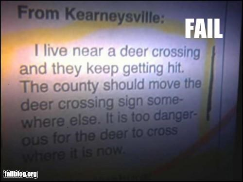 animals,deer,failboat,g rated,news,screenshot,signs,stupidity