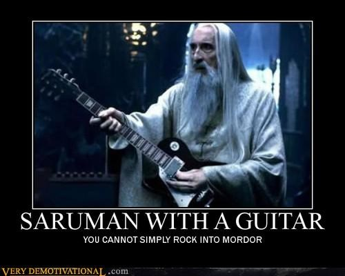guitar,hilarious,Lord of the Rings,rock,Saurman