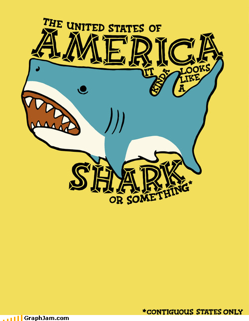 continental us Maps shark usa