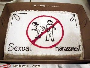 cake,inappropriate behavior,sexual harassment