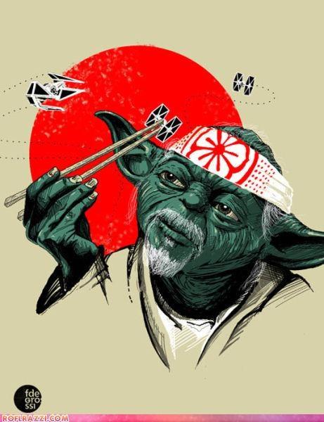 art cool funny Hall of Fame mr miyagi pat morita yoda - 4819378688