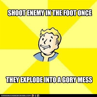 Blood fallout foot gore guns Memes mess video games - 4819411456