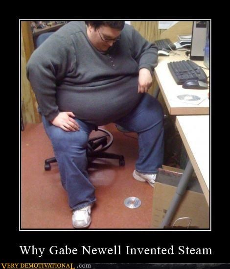 fat people,hilarious,lazy,steam