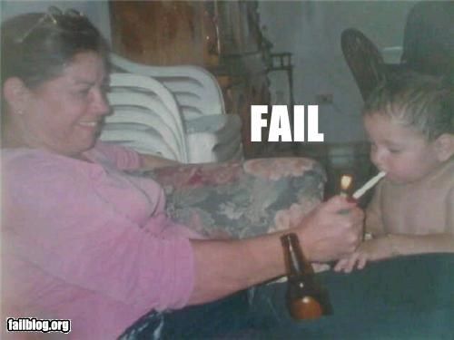 beer,cigarettes,failboat,kids,parenting,Parenting Fail,Party,smoking