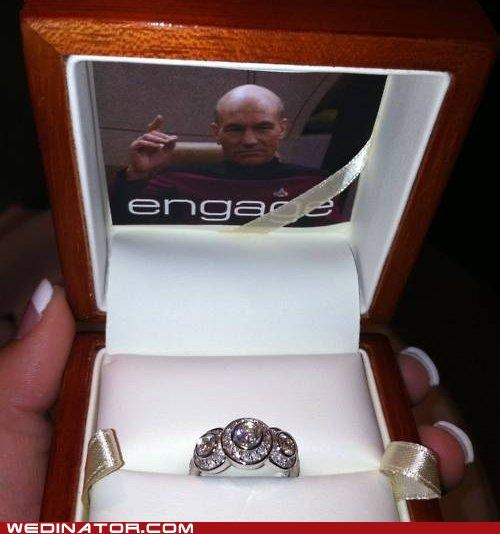 funny wedding photos,proposal,ring,Star Trek