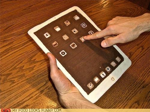 art chocolate edible gadget ipad nerdy