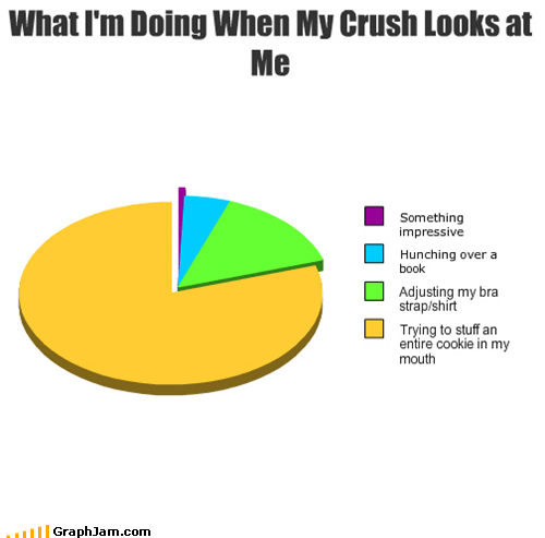 crush,embarrassing,life,Pie Chart
