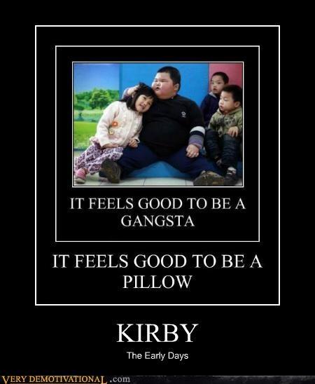 gangsta hilarious kirby Pillow - 4820198656