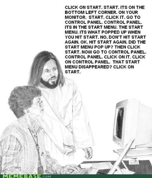 computer geek LOL Jesus RAPTURE - 4820239360