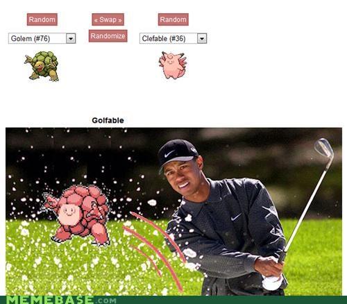 able fusion golen golf Pokémemes Pokémon Tiger Woods - 4820416512