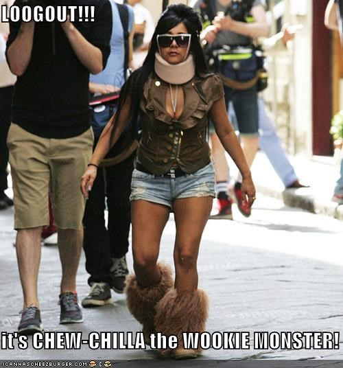 chewbacca,Chew-chilla,Cookie Monster,jersey shore,snooki