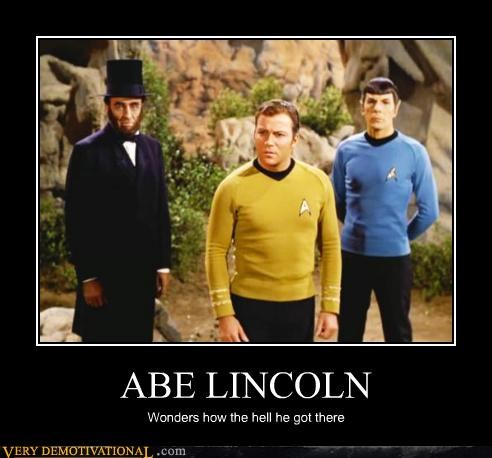 Abe Lincoln,Captain Kirk,hilarious,Spock,Star Trek