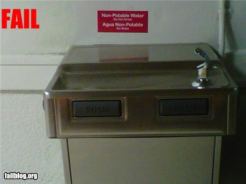 dangerous failboat g rated school signs water water fountain