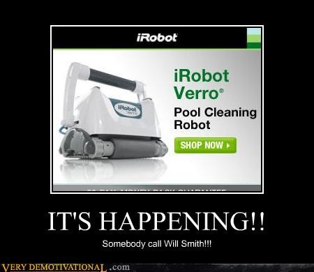 hilarious irobot Movie pool