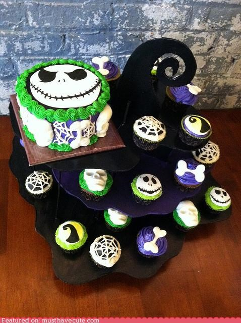 cake,cupcakes,epicute,jack skellington,nightmare before christma,spooky