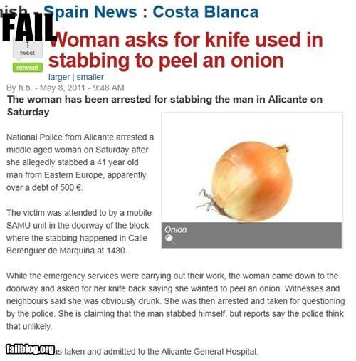 dual use failboat food g rated knife onion Probably bad News weird - 4821918720