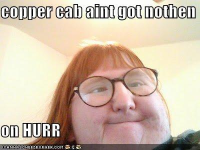 copper cab aint got nothen on hurr cheezburger funny memes
