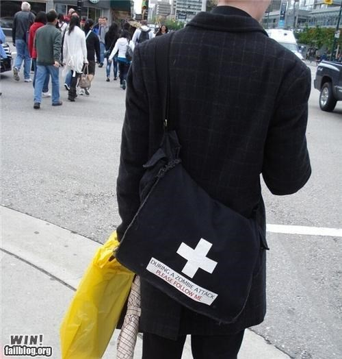 bag,clever,clothing,medic,nerdgasm,zombie