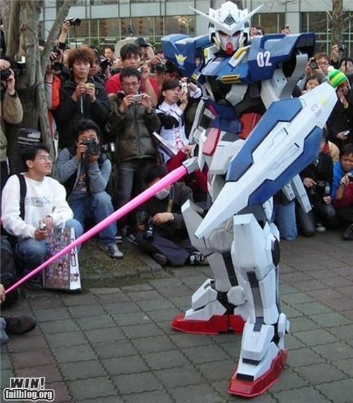 anime,cosplay,costume,gundam,nerdgasm