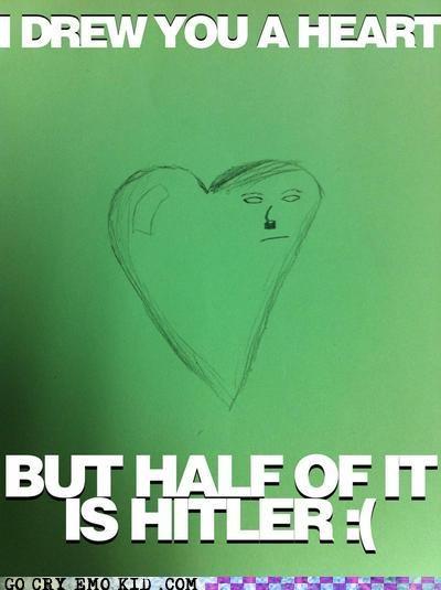 art emolulz heart hitler wtf