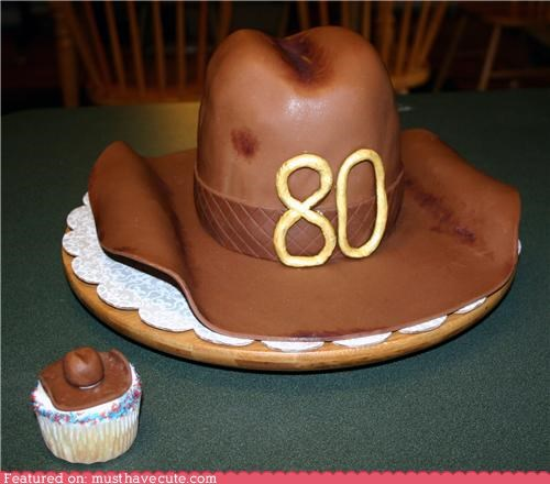 80 cake cowboy cupcake epicute fondant hat