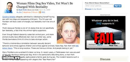 Ad advertisement beds bestiality failboat innuendo juxtaposition - 4822221824