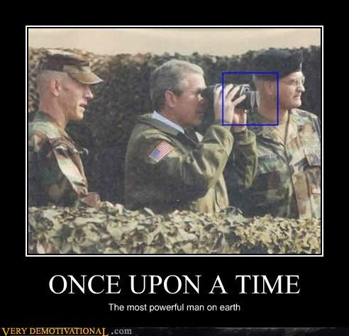 binoculars,george w bush,hilarious,powerful,wtf