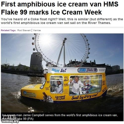 completely relevant news,ice cream,vehicle