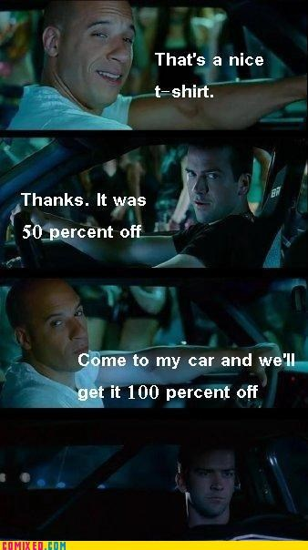 Fast and the Furious,From the Movies,gay joke,vin diesel