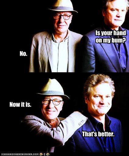 actor,celeb,Colin Firth,funny,Geoffrey Rush